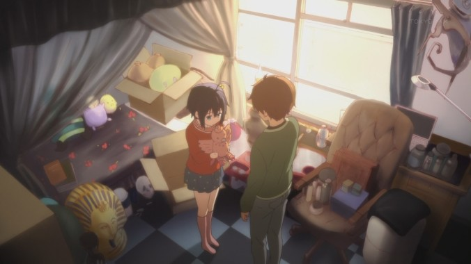 Rikka feels a bit lost, so she keeps looking to Yuuta for guidance