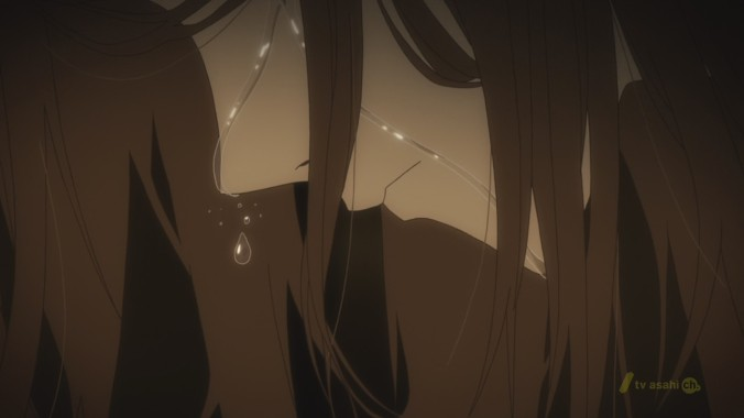 Saki cries for a person she can't remember