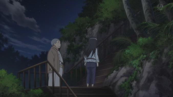 Kumiko walks away