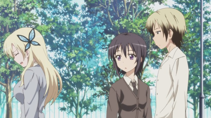 Sena's upset that Yozora might have made stuff up, and Yozora feels bad for pranking her