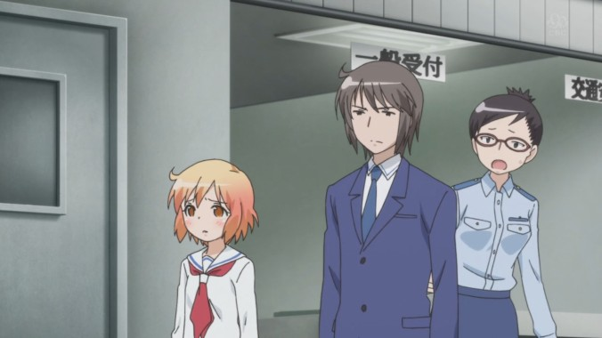 Manabe and Kotoura trying to get arrested